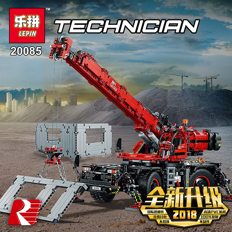 Lepin-20085-Compatible-Legoing-42082-Technic-Series-Rough-Terrain-Crane-Building-Blocks-Bricks-Educational-With-Battery