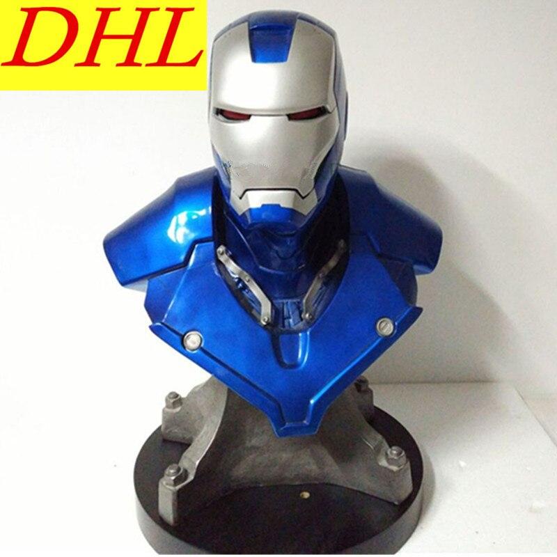 Avengers Iron Man Bust 1:1 MK3 With LED Light PVC Action Figure Superhero Tony Stark Collectible Model Toy L1650