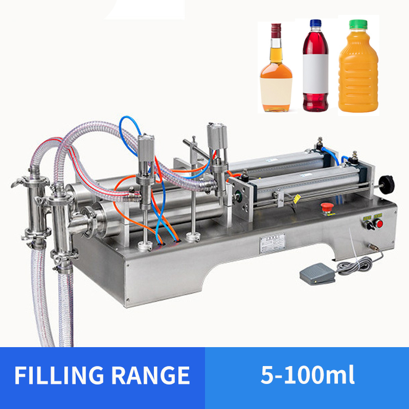 5-100ml Double Head Liquid Softdrink Pneumatic Filling Machine Perfume Filling Machine YS-GG1