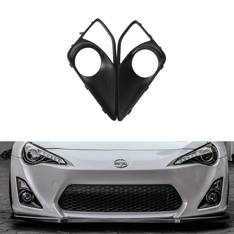 2PCs/Set Front Fog Light Bumper Cover Lamp Bezel For Toyota GT86/ Scion FR-S/ For BRZ Fog Lamp Bumper Car-styling Bumper 2pcs set carbon fiber side fender fin trim for subaru brz toyota gt86 scion fr s 12 16 air dam vent decoration stickers