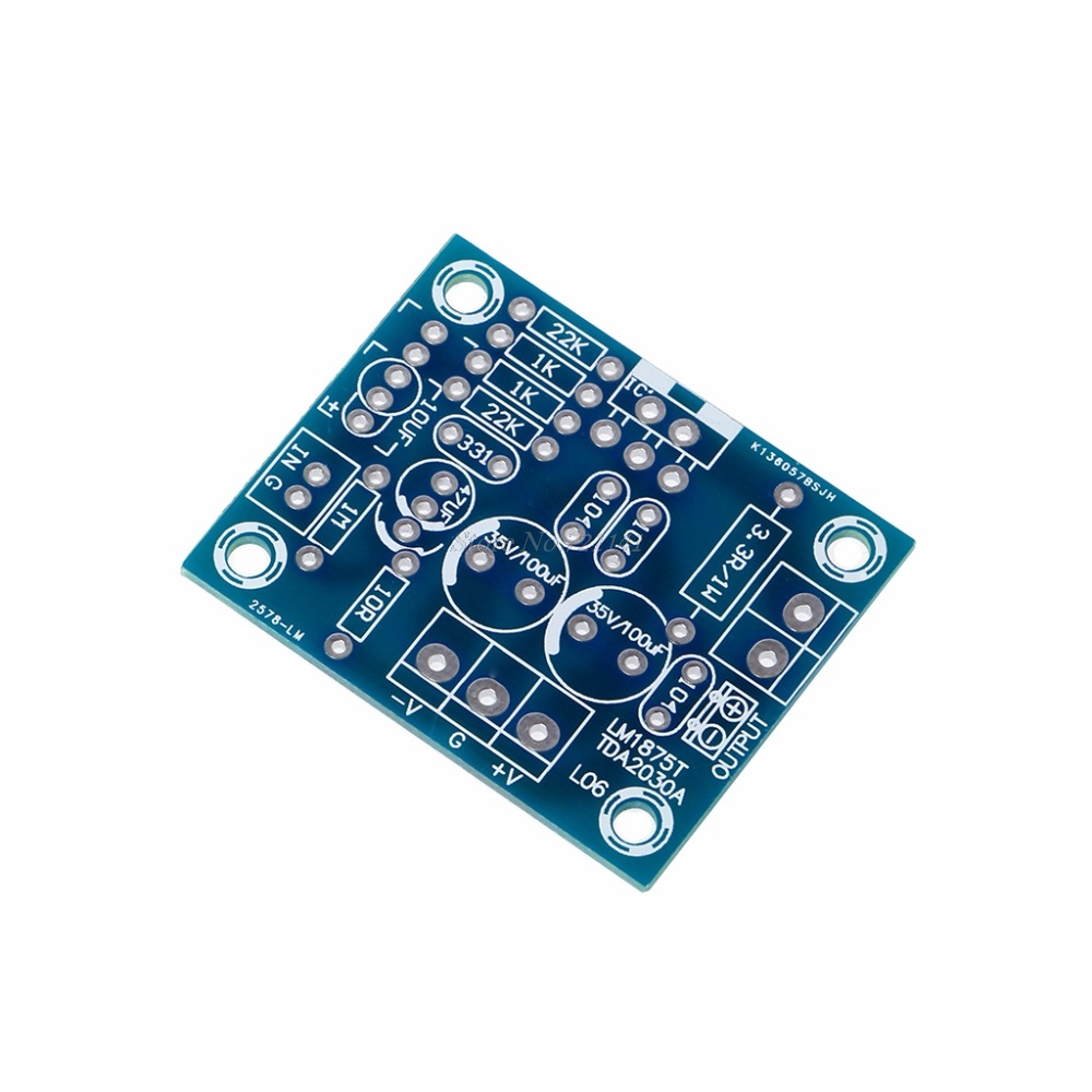20w Hifi Mono Channel Lm1875t Stereo Audio Amplifier Board Module Channels Subwoofer Power Kit Diy Circuit Kits Integrated Circuits In From Electronic Components Supplies