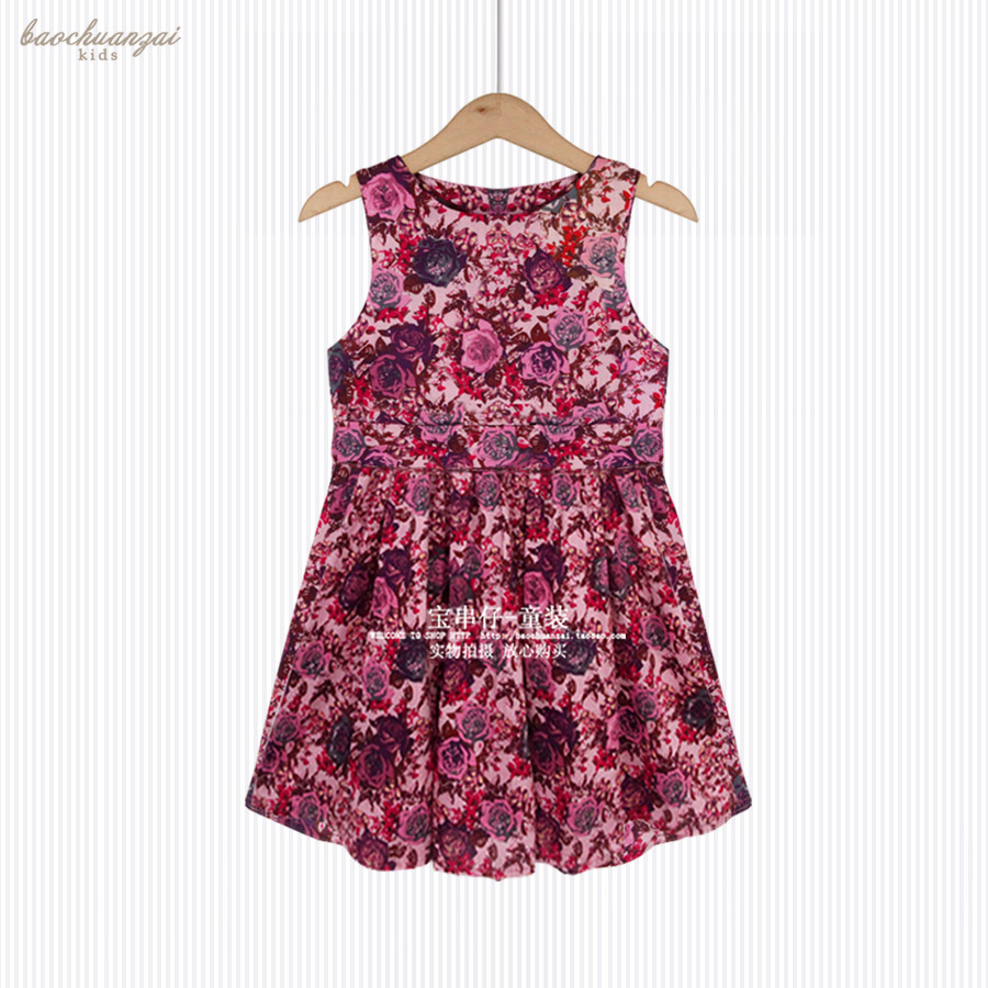 Red Rose Vest for Girls Dress of Anger Girls Dresses for Party and Wedding Summer Cotton Dress 4 Years textiles and dress of gujarat