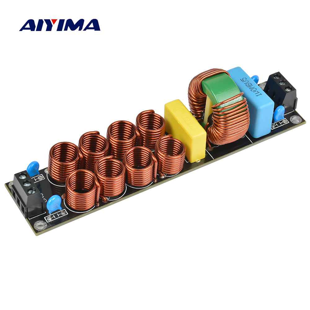 AIYIMA 4400 Вт EMI 20A высокочастотный сетевой фильтр источник питания собранная плата для усилителя динамика