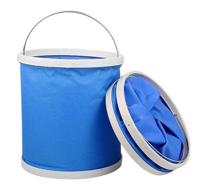 Lavagem de carro balde de pesca de plástico recipientes ao ar livre garrafa de água de acampamento balde de lavagem de carro, Balde dobrável, Balde de armazenamento