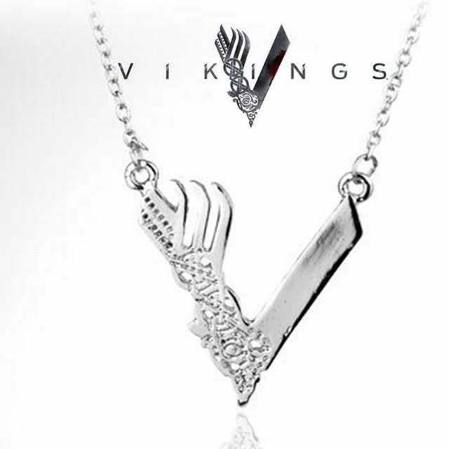 TV Series around Jewelry Minnesoca Vikings Logo Pendant Necklace Women accessories Link Chain Choker Necklace Wholesale