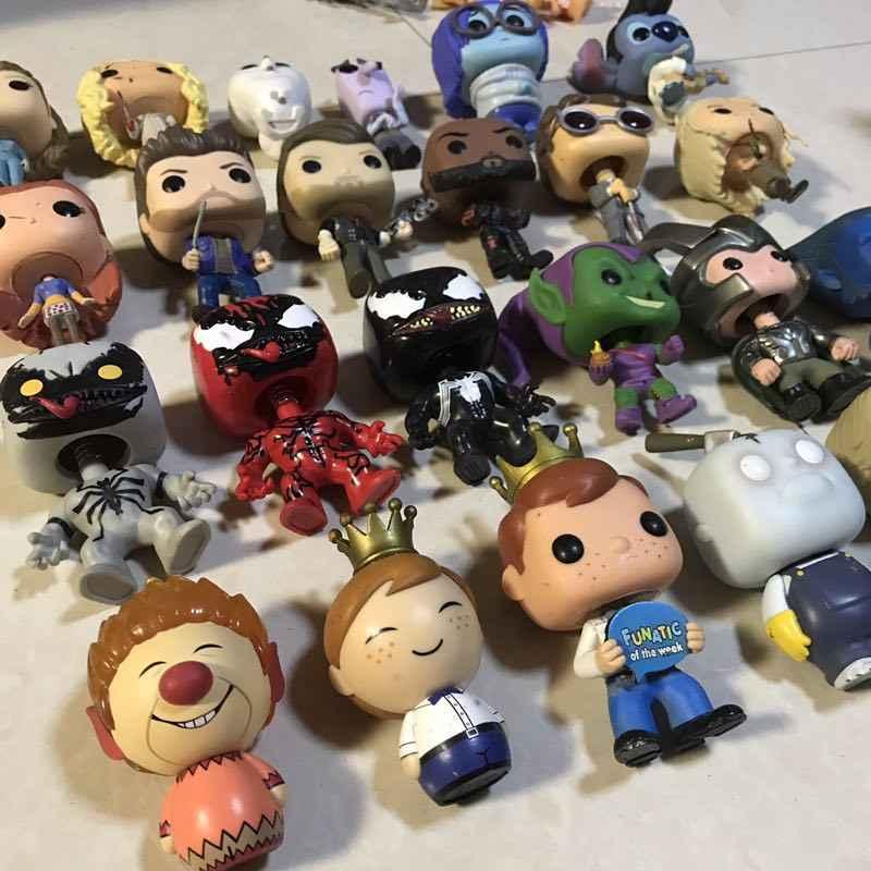 Original Funko pop Joker, Freedy, Venom, Stitch, Adventure, 울버린, Loki, Rocks, Daenerys 피규어 Collectible Model Toy