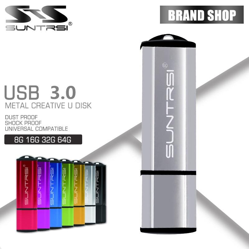 Suntrsi USB Flash Drive USB 3.0 Pen Drive 64gb 32GB usb stick 16GB 8GB Pendrive Flash Card flash drive customized print logo