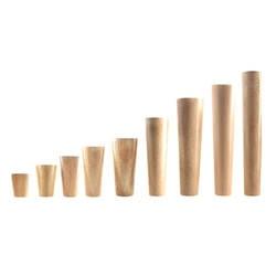 Шт. 1 шт. натуральный твердые деревянные ножки для мебели в форме конуса деревянный Carbinet Стол ног