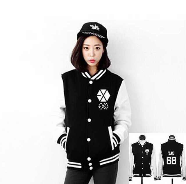 Aliexpress.com : Buy Kpop exo baseball jacket men women autumn ...