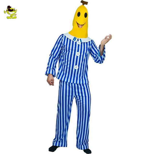 Banana Funny Party Costume Novelty Halloween Christmas Carnival Party Decorations Food Costumes For Adult Mens Role Play Costume
