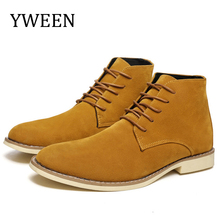 YWEEN Spring Mens Leather Boots Men Chelsea Casual leather Shoes Autumn Fashion For