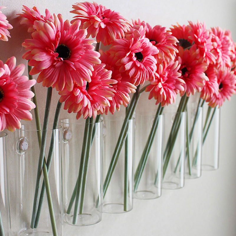 1pc glass vases Fashion home decorative wall decoration flower ...