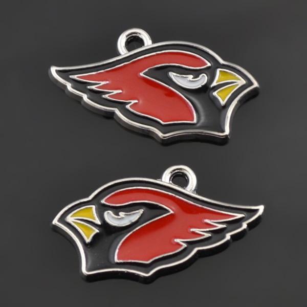 Sport Team Football Metal Enamel Pendant Charms Arizona Cardinals DIY Sport Fans Jewelry