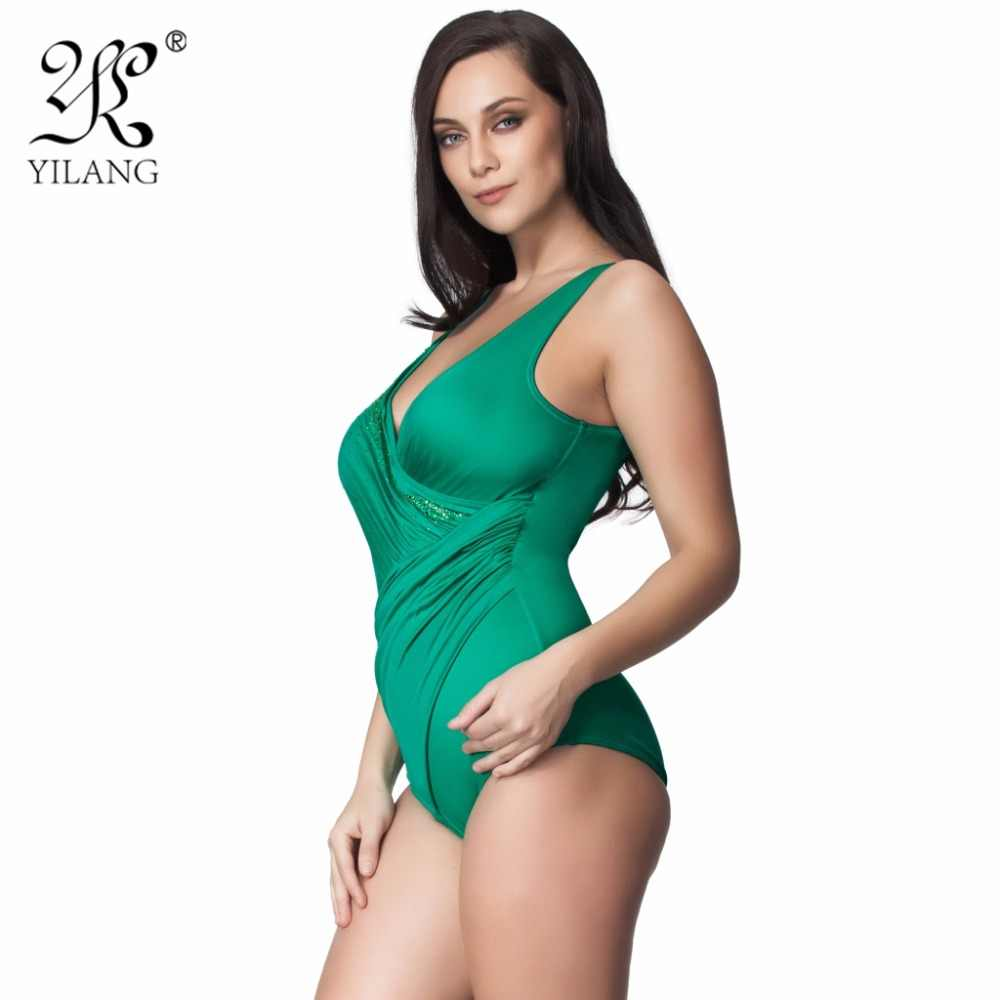 47a05e30a0d68 ... Brand Mature Female Plus Size Swimwear Women One Piece Swimsuit Wrap  Pleated Bathing Suit Sexy Padded ...