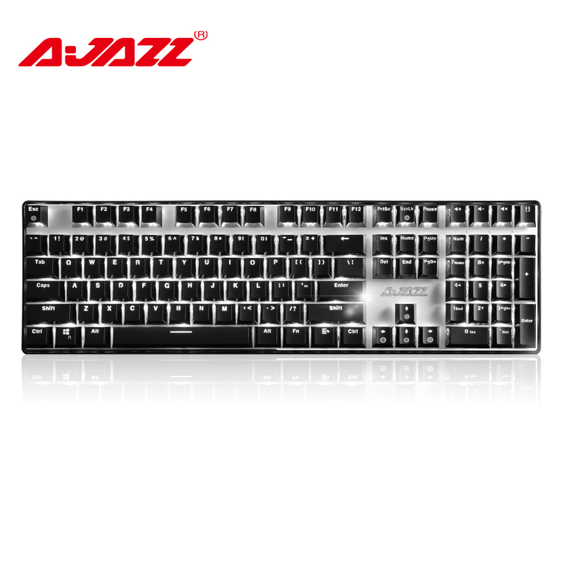 Ajazz AK33I 108 keys wired USB mechanical gaming Keyboard Black Switch ergonomic monochrome mysterious lights for <font><b>notebook</b></font>/pc