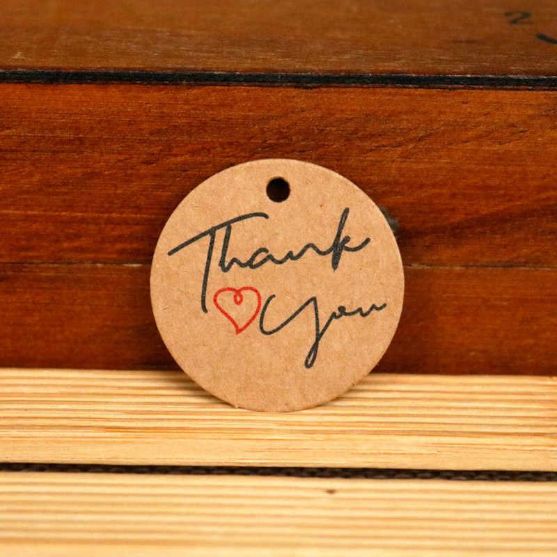 """Thank You"" de Kraft Etiqueta de regalo unicornio Llama sirena Diseño De Rosa boda fiesta etiquetas colgantes de papel Etiqueta de Embalaje de etiquetas de papel"