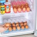 15/24 rejilla de huevos huevos de contenedores de almacenamiento cuadro titular de contenedores de plástico caja de almacenamiento organizador de la cocina nevera nevera bandeja