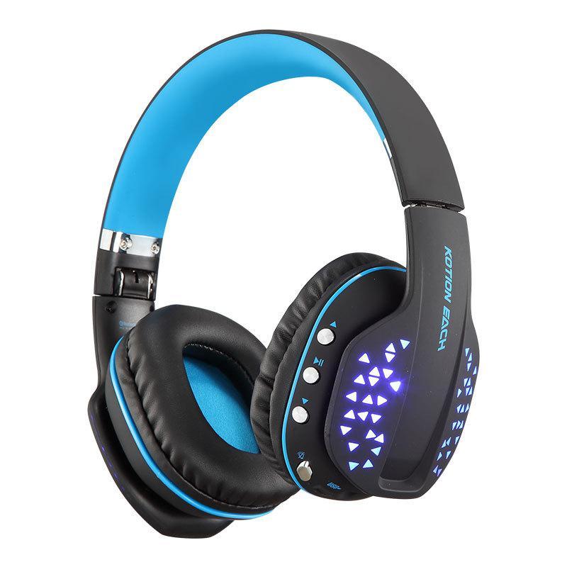 все цены на KOTION EACH Bluetooth Headphones Foldable Wireless Deep Bass Stereo PS4 Gaming Headset with Mic Led Earphone Handsfree for Phone онлайн