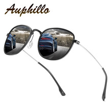 AUPHILLO Classic Retro Sunglasses Women Polarized Round Sunglasses Luxury Brand Designer Sun glasses For Men UV400 Glasses A152 цена 2017
