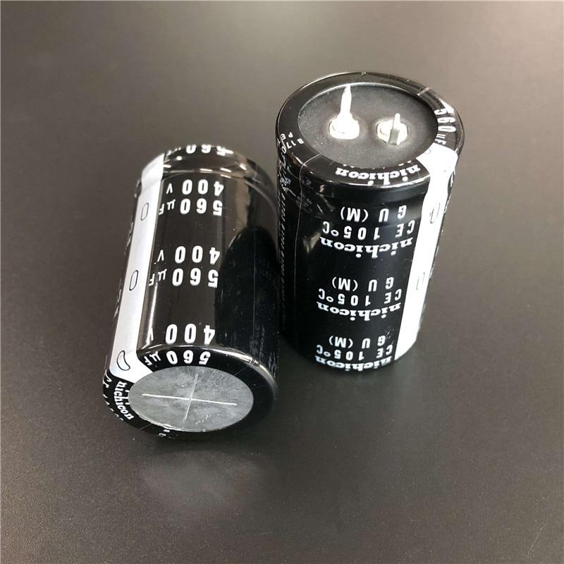 2PCS/10PCS 560uf 400v Nichicon GU 30x50mm 400V560uF Snap-in PSU Capacitor