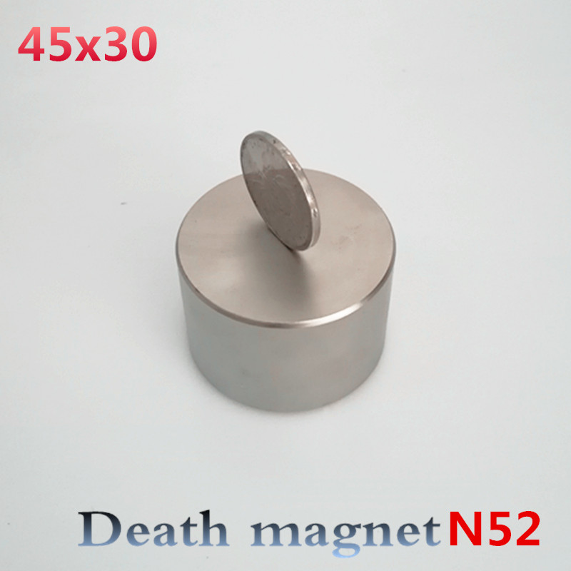 Neodymium magnet 45x30 N52 rare earth super strong powerful round welding search permanent magnet 45*30mm gallium metal magnetic 5pcs round circular cylinder 25 x 20 mm magnet rare earth neodymium 25 20 mm