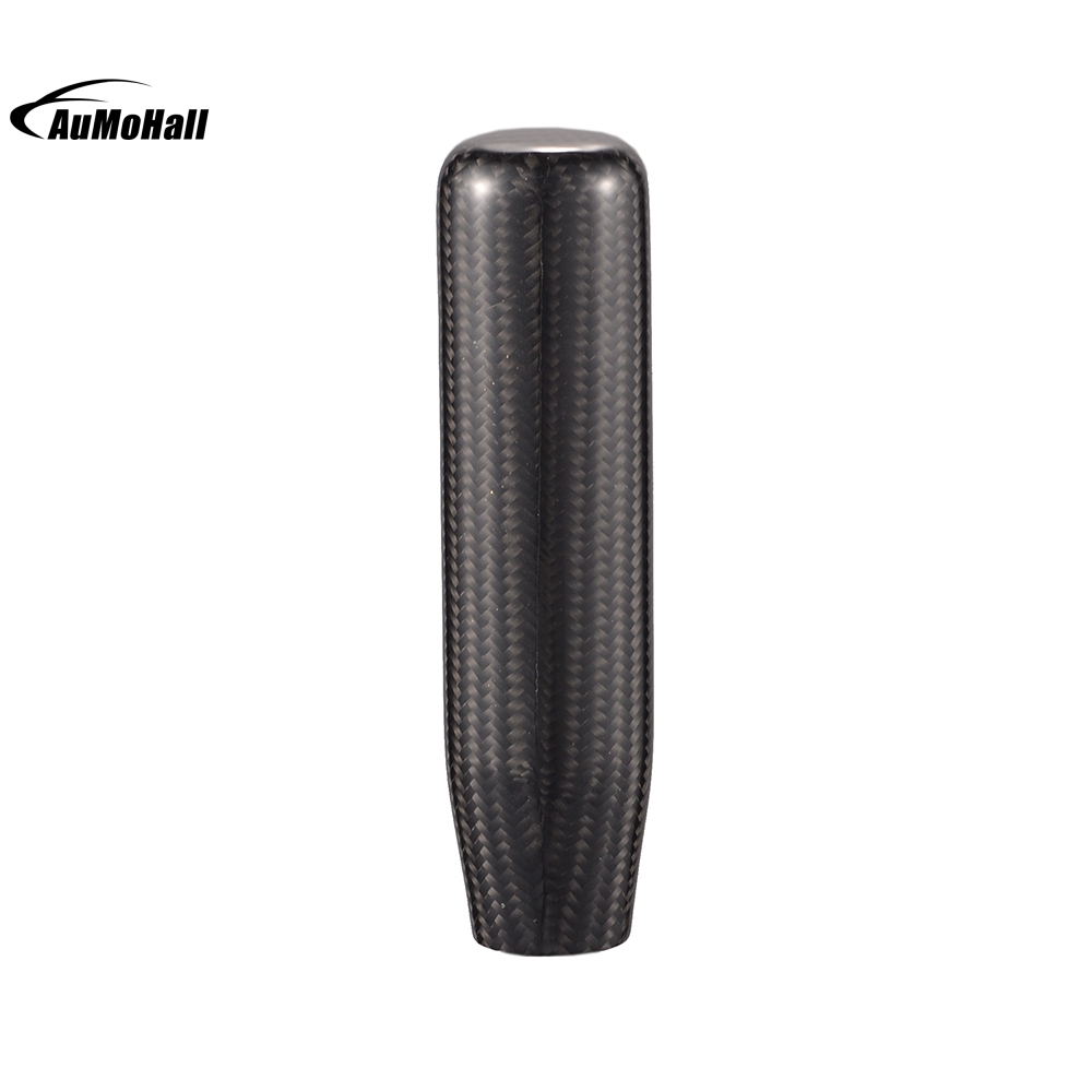 13 см углеродного волокна черный автомобиль ручного переключения Шестерни сдвиг голова переключения рычага Stick, ручка