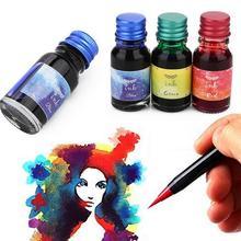10 мл/бутылка цветные чернила, чернила для рисования, Dip Ручка чернила, не углеродистая авторучка чернила