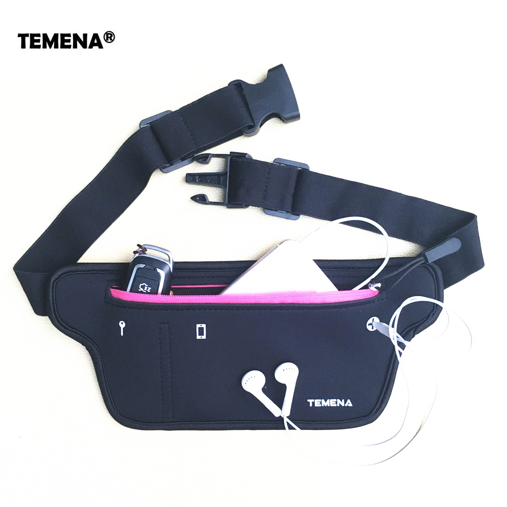 TEMENA Men Women Running Waist Belt Bag Phone Holder Jogging Belly Fanny Packs Gym Fitness Bags Sport Running Accessories running bags sports exercise running gym armband pouch holder case bag for cell phone free shipping