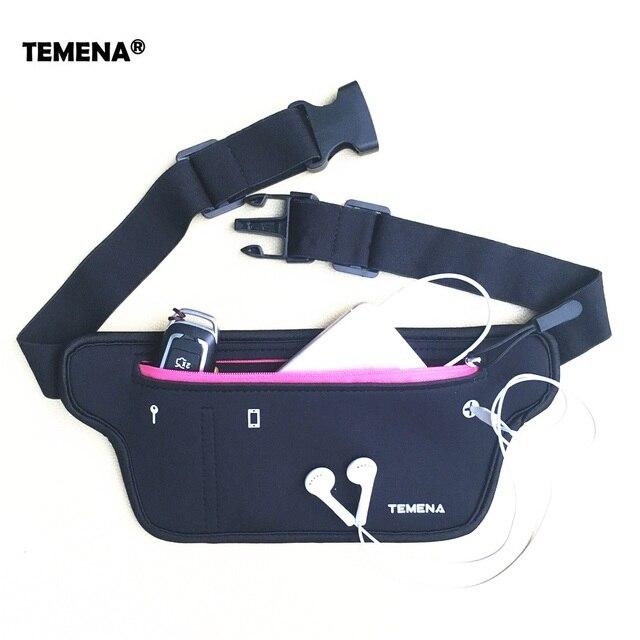 TEMENA Men Women Running Waist Belt Bag Phone Holder Jogging Belly Fanny Packs Gym Fitness Bags Sport Running Accessories 2