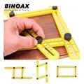 Binoax cuatro lados regla instrumento de medición plantilla ángulo herramienta mecanismo diapositivas