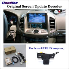 Liandlee Original Screen Update System For Lexus RX ES NX 2013-2017 Rear Reverse Parking Camera Digital Decoder camera