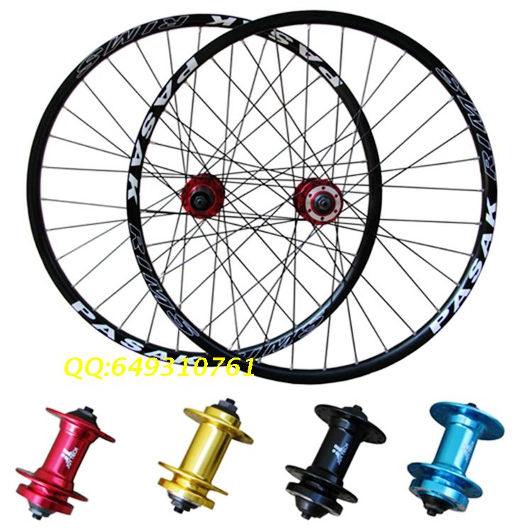 DH19 MTB mountain bike bicycle wheels disc/V  brake Wheels multi color wheelset quality wheelset wheels EMS Rim Rims mountain bike four perlin disc hubs 32 holes high quality lightweight flexible rotation bicycle hubs bzh002