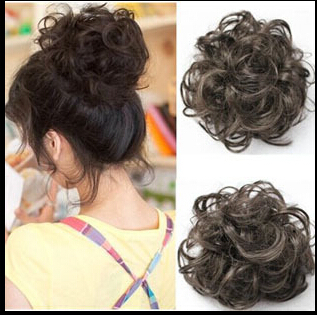 Free Shipping Pony Tail Hair Extension Bun Hairpiece Scrunchie