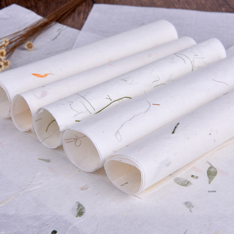 10 Pcs/lot Vintage Handmade Plant Soft Letter Paper Stationery Drawing Calligraphy Writing Paper School Office Supplies