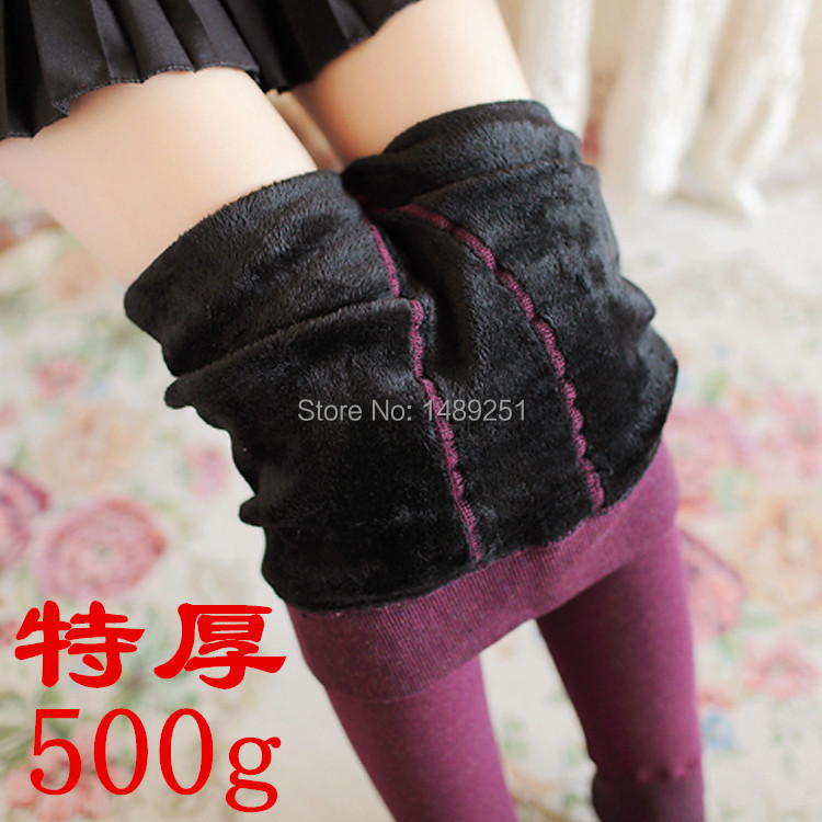 Women Winter Warm Tights Thick Northern Winter Cold Colorful Cotton Pilling Pantyhose 500g Fitness Stockings Free Shipping in Tights from Underwear Sleepwears