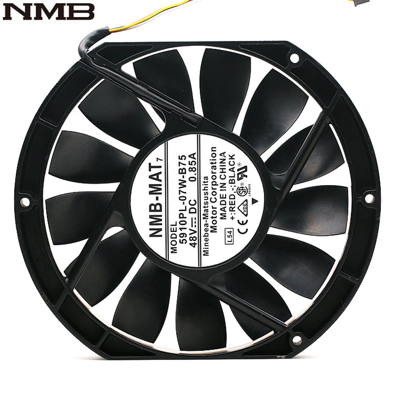 For NMB 5910PL-07W-B75 17025 17cm 170mm DC 48V 0.85A Slim Industrial Cabinet Cooling Fan