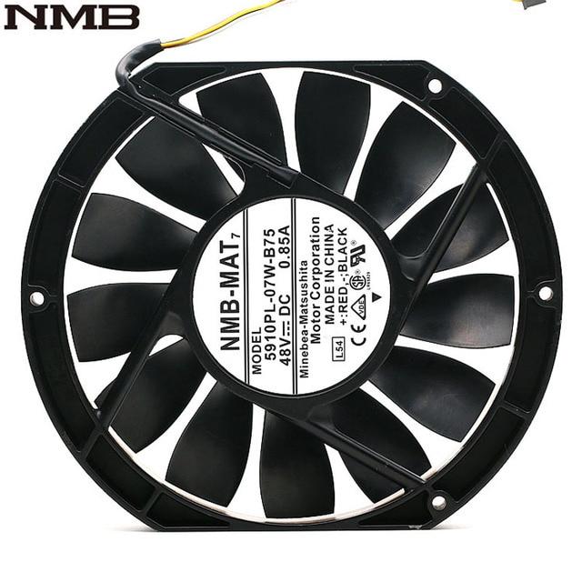 NMB 5910PL 07W B75 17025 17cm 170mm DC 48V 0.85A Slim Industrial Cabinet