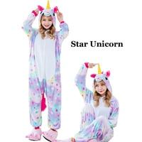 Winter Unisex Unicorn Pajamas Kigurumi Animal Star Pyjamas women Adult onesies Cosplay Flannel stitch Onesie Sleepwear 2019 New