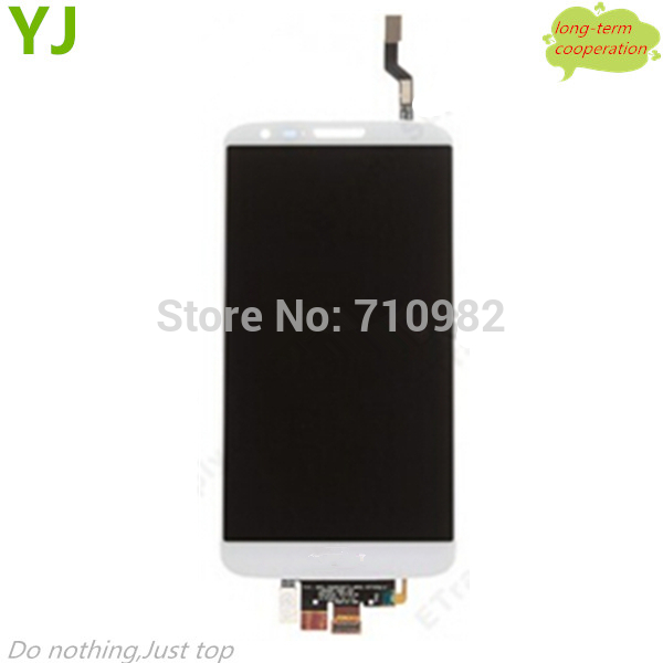 HK free 100% Tested OEM LCD Screen and Touch Screen Digitizer Assembly for for LG G2 D802 - White