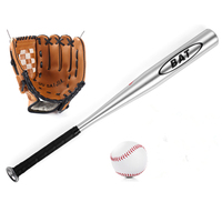 Outdoor Games Fun Sport Toys For Kids Baseball Set With Carrying Bag Aluminum Alloy Bat PU