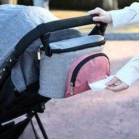 Kinderwagen Zak Kinderwagen Organizer Accessoires Luier Fles Opslag Kinderwagen Opknoping Tas Grote Capaciteit Mummie Zak