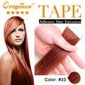 16 Colores de cabello Cinta Trama de La Piel Extensiones Del Pelo Virginal Recta pelo 100% Del Pelo Humano de la Fábrica Precio Al Por Mayor 10 Unids por conjunto