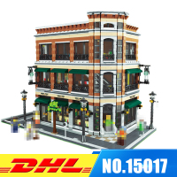 IN STOCK 2016 New LEPIN 15017 4616Pcs Starbucks Bookstore Cafe Model Building Kits Blocks Bricks Toys