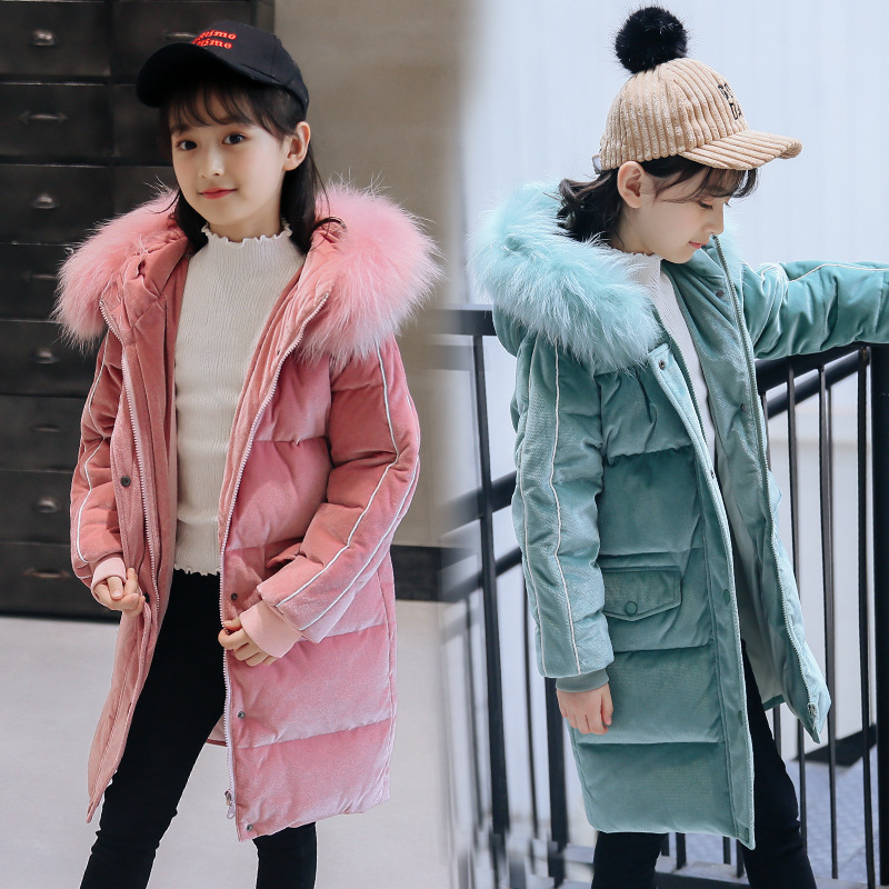 OLEKID Down Jacket For Girl 5-14 Years Kids Thicken Warm Children Girl Winter Coat Winterjas Meisjes Kurtka Zimowa Dziewczynka