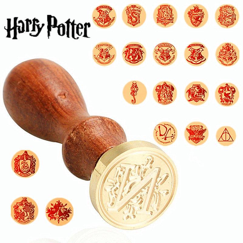 1 pcs Vintage Harry Potter Metal Seal Wax Stamp Wo