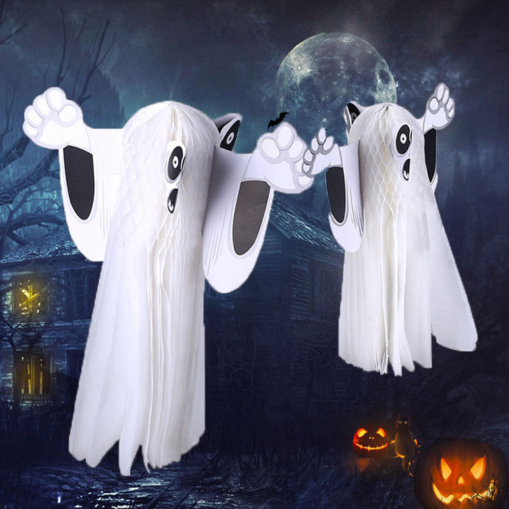 Us 1 51 11 Off Fashion Halloween Ghost Hanging Decor Indoor Outdoor Halloween Party Decoration In Party Diy Decorations From Home Garden On