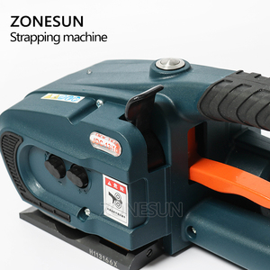 Image 2 - ZONESUN JDC 13mm 16mm PET PP Plastic Strapping Machine Tools Battery Powered 4.0A/12V Battery Strap Machine With 2 Batteries
