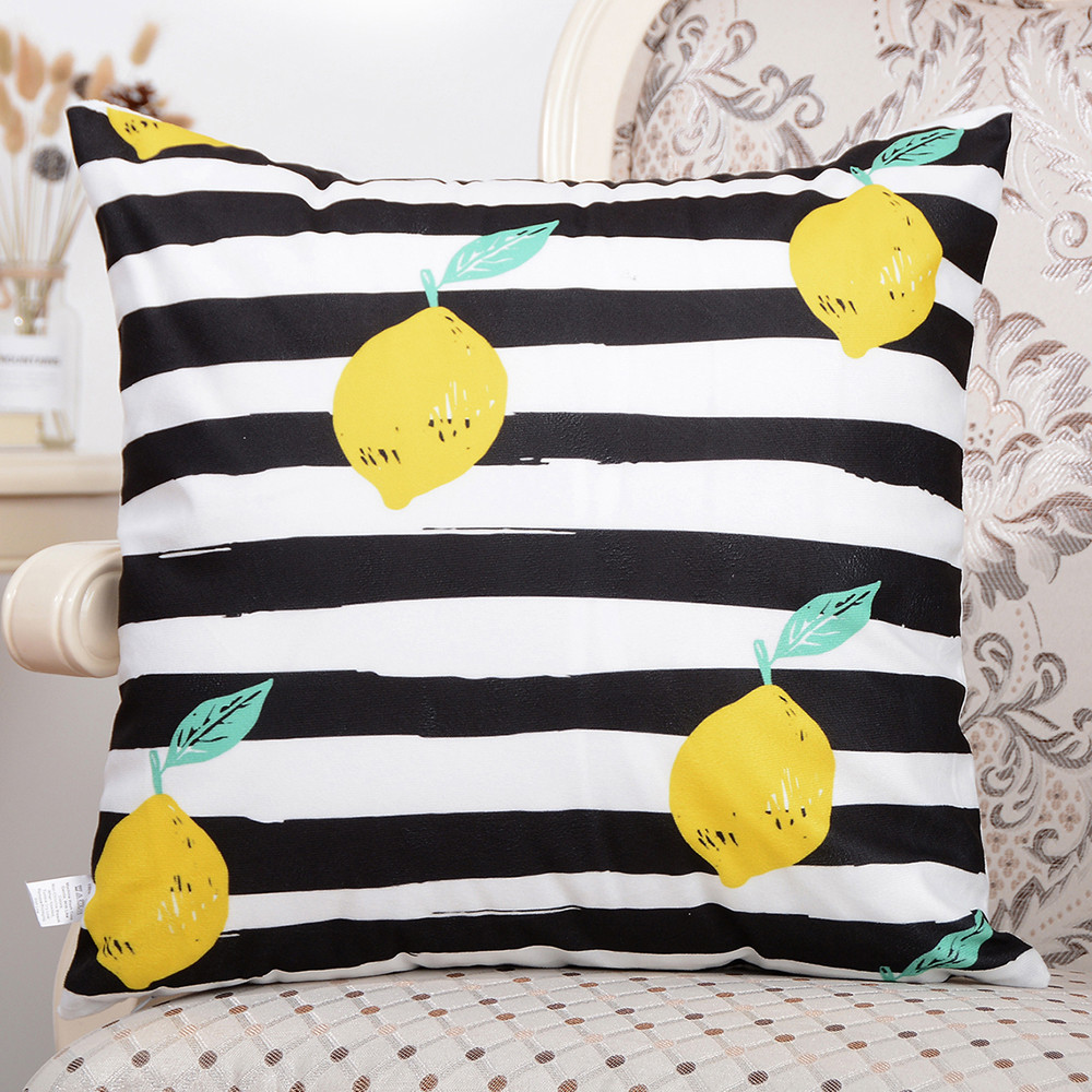 avocado pattern throw pillow case