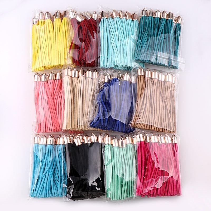 10 шт., длина 8 см, искусственная замша, кожаная кисточка для брелоки, мешки, ювелирные изделия, волокна, бахрома, сделай сам, подвеска, шармы, фу...