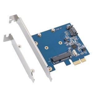 Комбинированная плата расширения PCIe для mSATA и SATA 3,0, PCI Express контроллер, мини SATA SSD адаптер для ПК, настольного компьютера с низким кронштейном